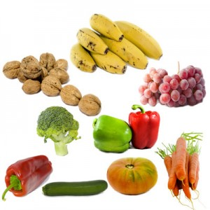 fruits vegetables walnuts