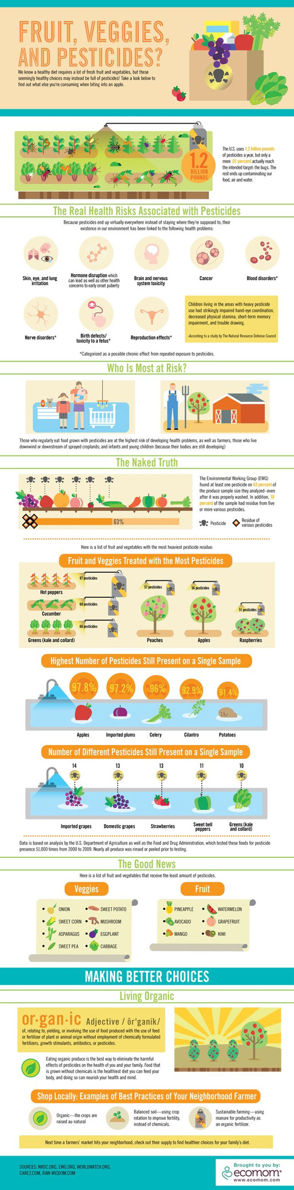 Infographic organic raw food