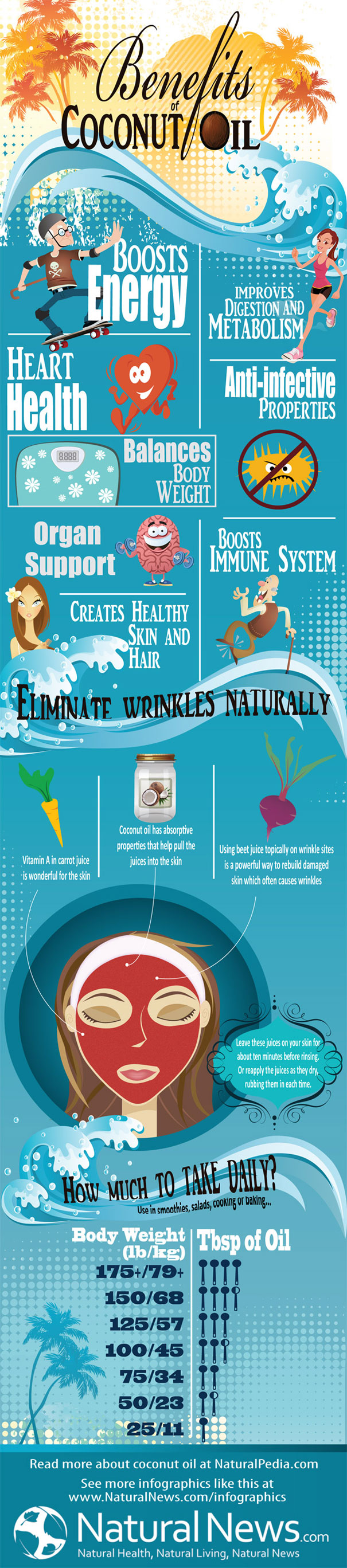 Benefits of Coconut Oil Infographic
