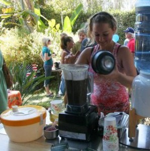 Making smoothies at our Raw Fair in 2012