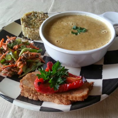 Veggie Loaf and Soup