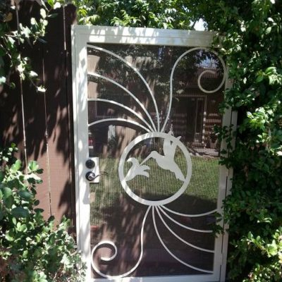 Hummingbird garden gate