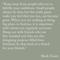 Positive Influences- Mark Twain Quote